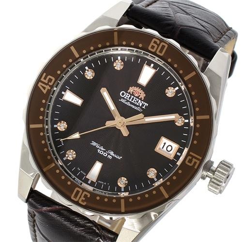 オリエント 自動巻き メンズ 腕時計 SAC0A005T0 ブラック/ダークブラウン