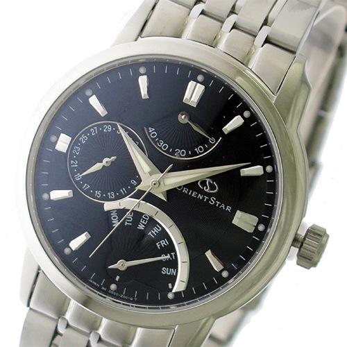 オリエントスター 自動巻き メンズ 腕時計 SDE00002B0 ブラック/シルバー