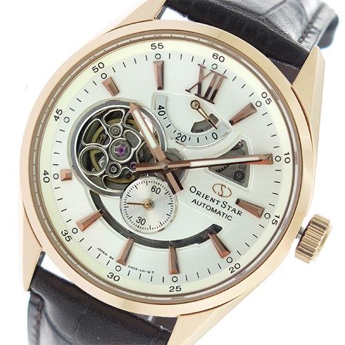 オリエントスター 自動巻き メンズ 腕時計 SDK05003W0 アイボリー/ブラウン