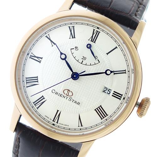 オリエントスター 自動巻き メンズ 腕時計 SEL09001W0 オフホワイト/ダークブラウン></a><p class=blog_products_name