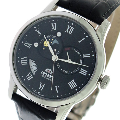 オリエント サン&ムーン 自動巻き メンズ 腕時計 SET0T002B0 ブラック/ブラック