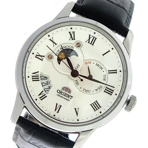オリエント サン&ムーン 自動巻き メンズ 腕時計 SET0T002S0 ホワイト/ブラック></a><p class=blog_products_name