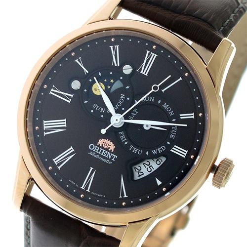 オリエント サン&ムーン 自動巻き メンズ 腕時計 SET0T003T0 ブラウン/ブラウン></a><p class=blog_products_name