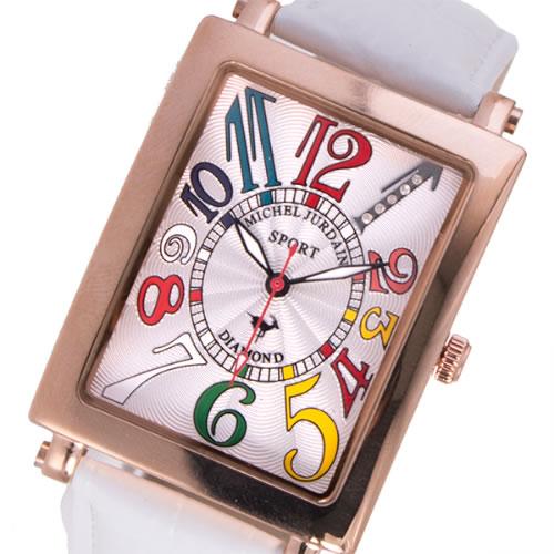 ミッシェルジョルダン MICHEL JURDAIN クオーツ メンズ 腕時計 SG-3000-6PG ホワイト></a><p class=blog_products_name