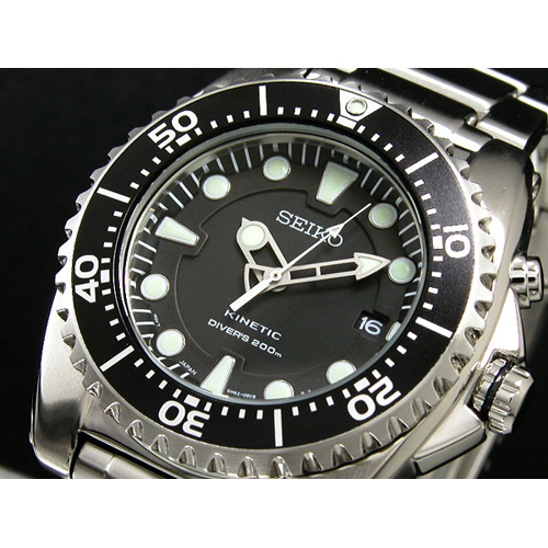 セイコー SEIKO キネティック KINETIC ダイバー メンズ 腕時計 SKA371P1