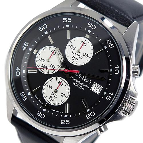 セイコー SEIKO クオーツ メンズ クロノ 腕時計 SKS485P1 ブラック