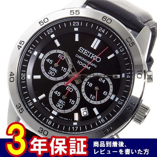 セイコー SEIKO クオーツ クロノ メンズ 腕時計 SKS519P2 ブラック