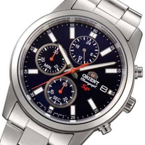 オリエント ORIENT クロノ クオーツ メンズ 腕時計 SKU00002D ネイビー