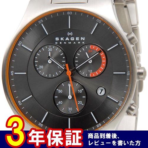 スカーゲン SKAGEN アクティブ クオーツ メンズ クロノ 腕時計 SKW6076 グレー