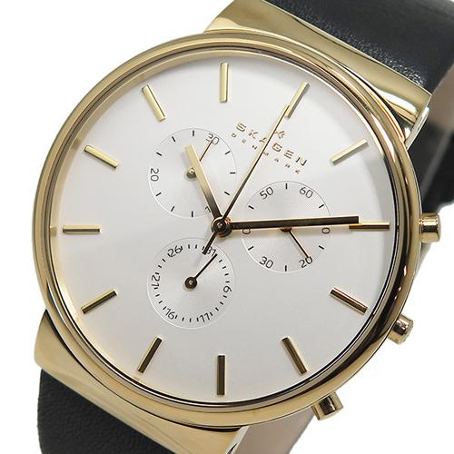 スカーゲン SKAGEN クオーツ メンズ クロノ 腕時計 SKW6143 ホワイト
