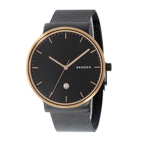 スカーゲン アンカー ANCHER クオーツ メンズ 腕時計 SKW6296 ブラック