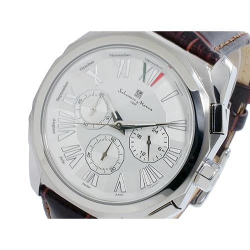 サルバトーレマーラ クロノ クオーツ メンズ 腕時計 SM14122-SSWH