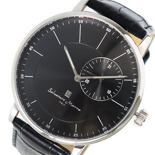 サルバトーレマーラ クオーツ メンズ 腕時計 SM17105-SSBK ブラック