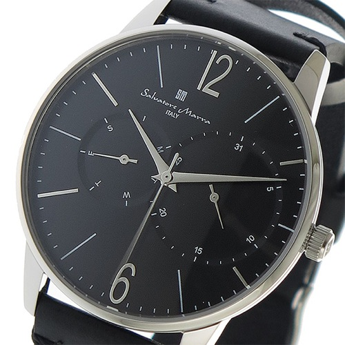 サルバトーレマーラ クオーツ メンズ 腕時計 SM18105-SSBK ブラック