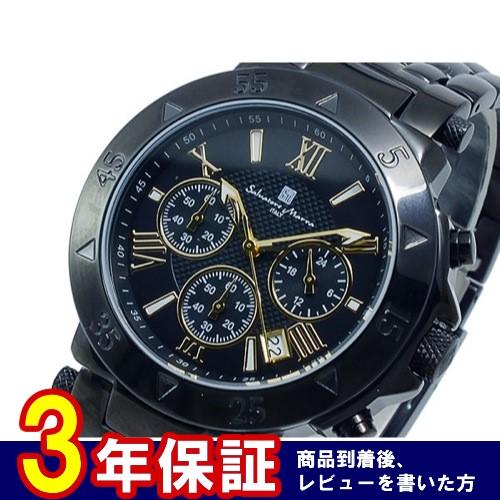 サルバトーレマーラ クオーツ メンズ クロノ 腕時計 SM8005-IPBKGD