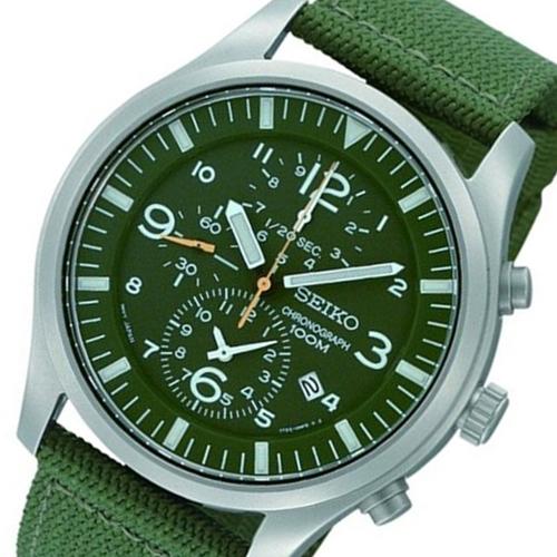 セイコー SEIKO クロノ メンズ 腕時計 SNDA27P1 グリーン