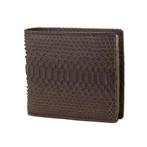 ロダニア RODANIA パイソン革 メンズ 二つ折財布 SNJN0012BNE ニコチン