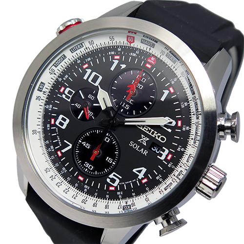 セイコー プロスペックス クロノ ソーラー メンズ 腕時計 SSC351P1 ブラック