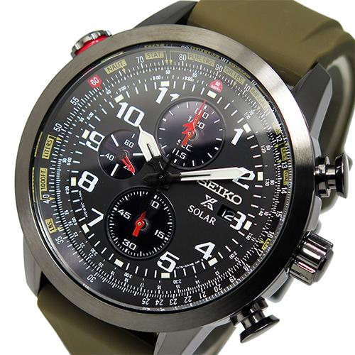 セイコー プロスペックス クロノ ソーラー メンズ 腕時計 SSC353P1 ブラック