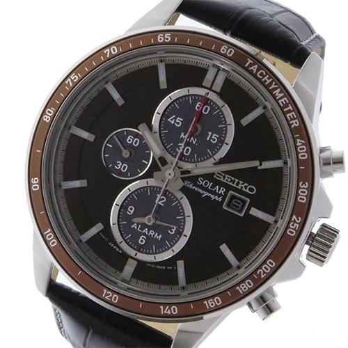 セイコー クロノ ソーラー メンズ 腕時計 SSC503P1 ブラウン
