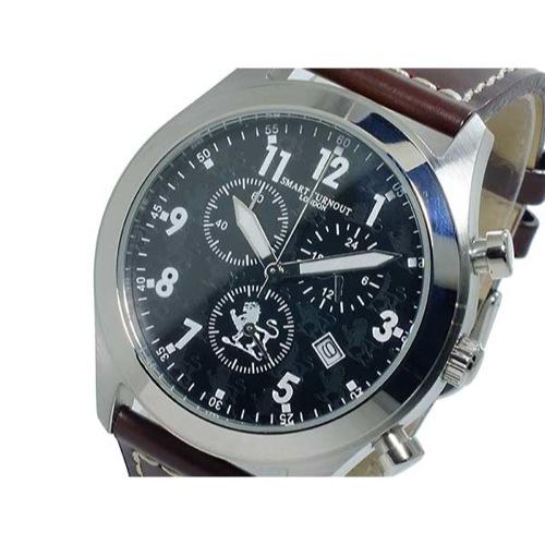 スマート ターンアウト SMART TURNOUT クオーツ メンズ クロノ 腕時計 ST-004BKDBR 替えベルト付き