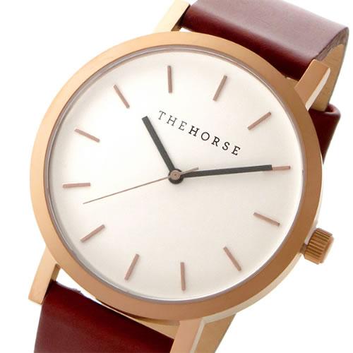 ザ ホース THE HORSE オリジナル クオーツ ユニセックス 腕時計 ST0123-A5 ホワイト/ウォルナット></a><p class=blog_products_name