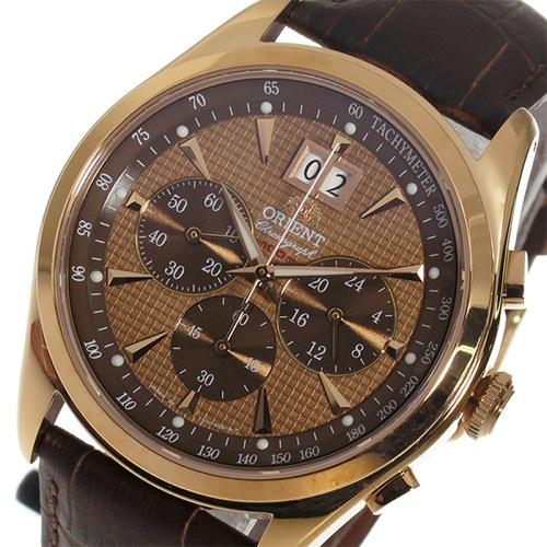 オリエント ORIENT クロノ クオーツ メンズ 腕時計 STV01001T0 ブラウン