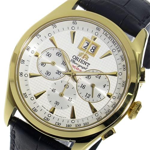 オリエント ORIENT クロノ クオーツ メンズ 腕時計 STV01002W0 ホワイト