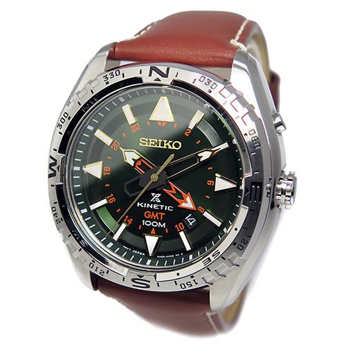 セイコー プロスペックス キネティック クオーツ 腕時計 SUN051P1 グリーン