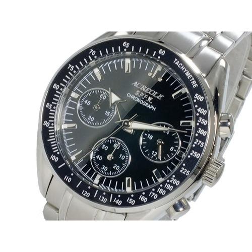 オレオール AUREOLE クオーツ メンズ クロノグラフ 腕時計 SW-582M-1></a><p class=blog_products_name