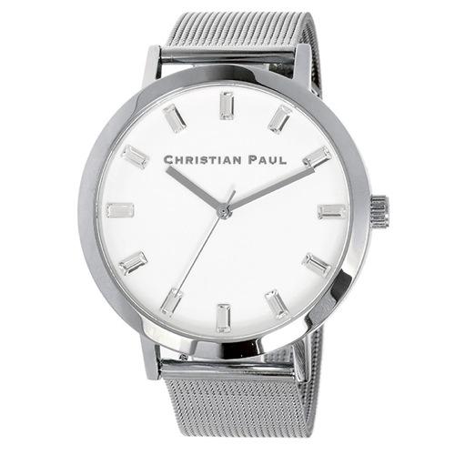 クリスチャンポール 43mm ユニセックス 腕時計 SWM-03 シルバー/ホワイト></a><p class=blog_products_name