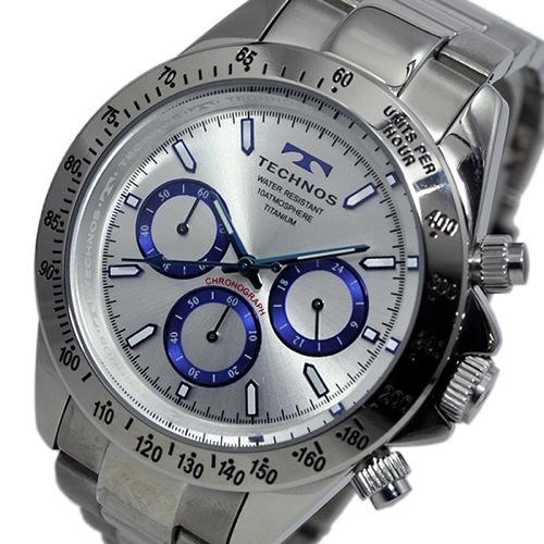 テクノス TECHNOS クオーツ メンズ クロノ 腕時計 T4322IS シルバー