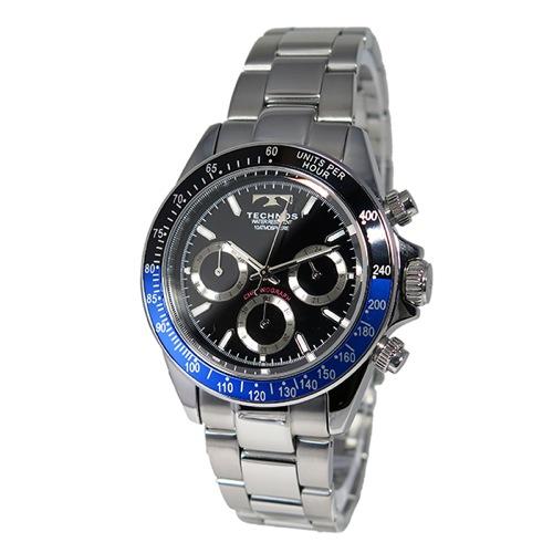テクノス TECHNOS クオーツ メンズ クロノ 腕時計 T4414SN ブルー