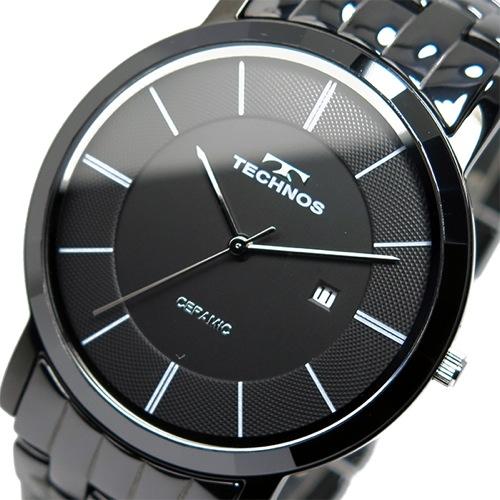 テクノス TECHNOS クオーツ メンズ 腕時計 T9365BB ブラック