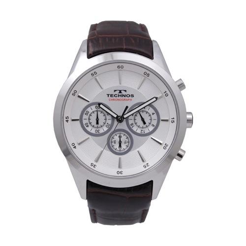 テクノス TECHNOS クロノ クオーツ メンズ 腕時計 T9441SS シルバー