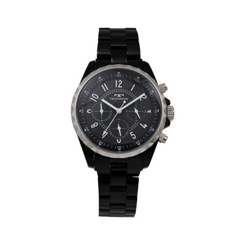 テクノス TECHNOS クロノ クオーツ メンズ 腕時計 T9449BB ブラック