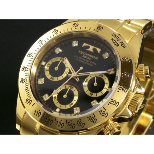 3de3b4eea37c 送料無料】テクノス TECHNOS クロノグラフ 腕時計 TGM639GB - メンズ ...