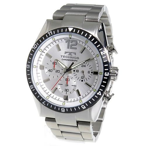 テクノス TECHNOS クロノ クオーツ メンズ 腕時計 TSM104TS シルバー