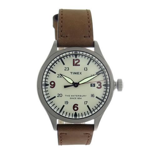 タイメックス Waterbury クオーツ メンズ 腕時計 TW2R38600 グレー/ブラウン></a><p class=blog_products_name