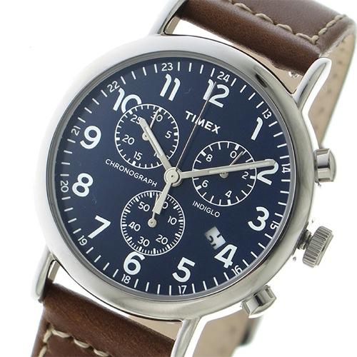 タイメックス ウィークエンダー クロノ クオーツ メンズ 腕時計 TW2R42600 ネイビー></a><p class=blog_products_name