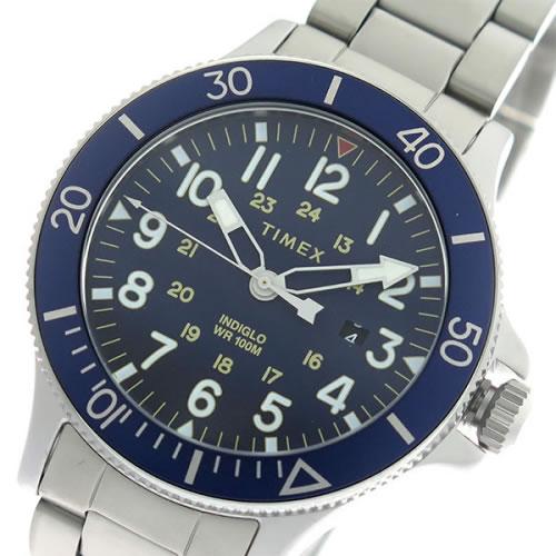タイメックス INDIGLO クオーツ メンズ 腕時計 TW2R46000 ネイビー/シルバー></a><p class=blog_products_name