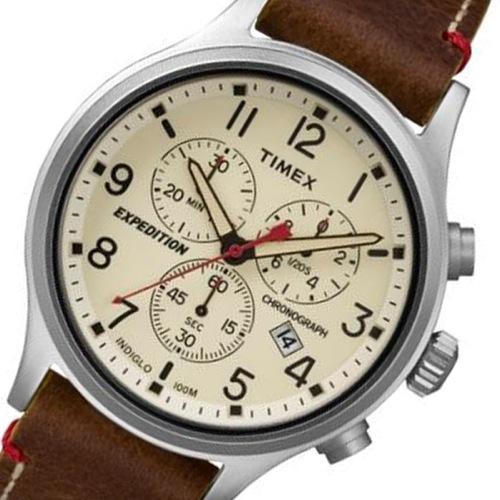 タイメックス スカウト クロノ メンズ 腕時計 TW4B04300 アイボリー 国内正規