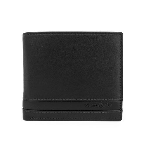 サムソナイト SAMSONITE メンズ 二つ折り短財布 U70-856-BK ブラック
