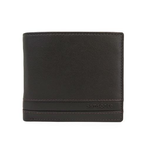サムソナイト SAMSONITE メンズ 二つ折り短財布 U70-856-DBR ダークブラウン