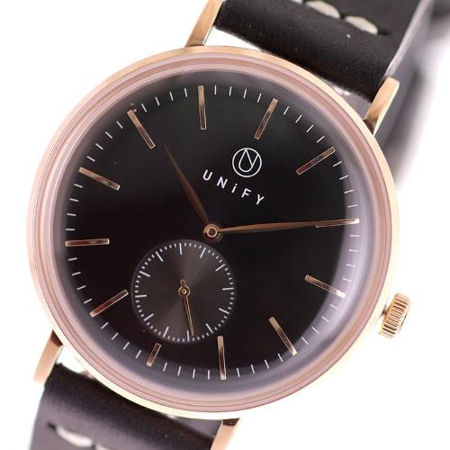ユニファイ UNiFY ベルト2本セット クオーツ 腕時計 UF-001PG-CABK ブラック></a><p class=blog_products_name