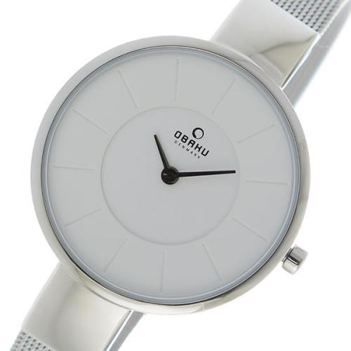 オバク OBAKU クオーツ ユニセックス 腕時計 V149LXCIMC ホワイト></a><p class=blog_products_name