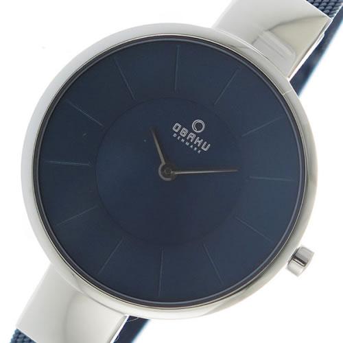 オバク OBAKU クオーツ ユニセックス 腕時計 V149LXCLML ネイビー></a><p class=blog_products_name