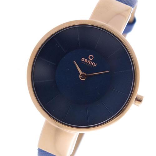 オバク OBAKU クオーツ ユニセックス 腕時計 V149LXVLRA ネイビー></a><p class=blog_products_name