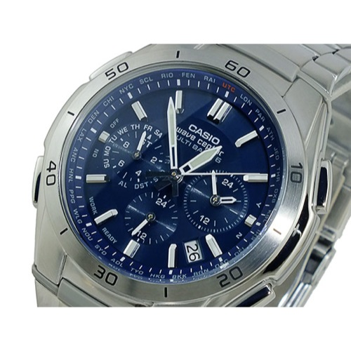 カシオ CASIO ウェーブセプター 電波 ソーラー 腕時計 WVQ-M410DE-2A2JF ネイビー 国内正規