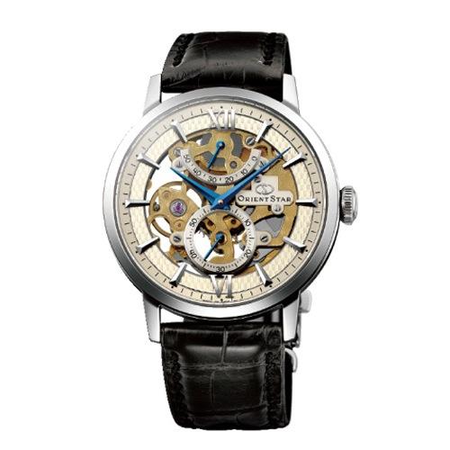 オリエントスター スケルトン 手巻き メンズ 腕時計 WZ0041DX アンティークシルバー 国内正規